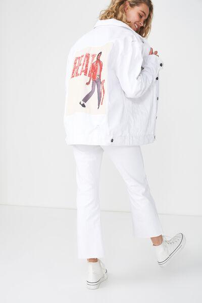 Rodeo Collaboration Jacket, MJ BEAT IT/WHITE