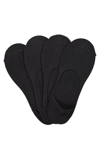 Multi Pack Invisi Socks, BLACK