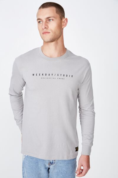 Tbar Long Sleeve, OVERCAST GREY/COLLECTIVE CHAOS