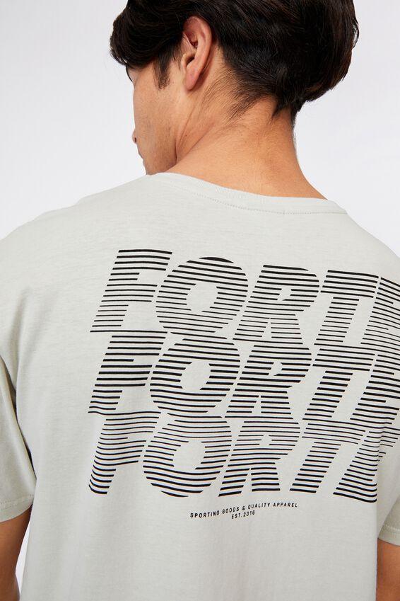Longline Scoop T-Shirt, IVORY/ITALICS