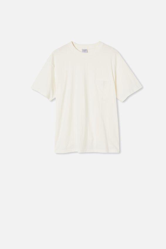Washed Pocket T-Shirt, VINTAGE WHITE