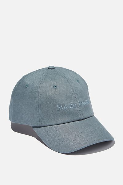 Strap Back Dad Hat, BLUE TEXTURE/STUDIO JOURNAL