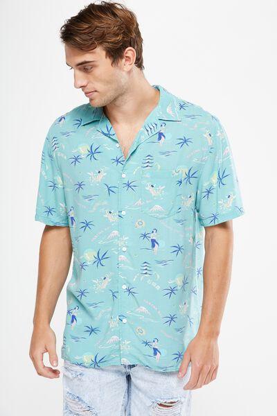 91 Short Sleeve Shirt, BLUE SUNRISE
