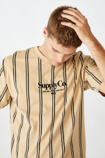 Downtown Loose Fit Tee, PEARL SUPPLY CO MIXED WIDE STRIPE