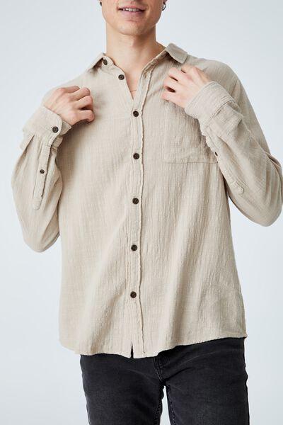 Camden Long Sleeve Shirt, TAUPE