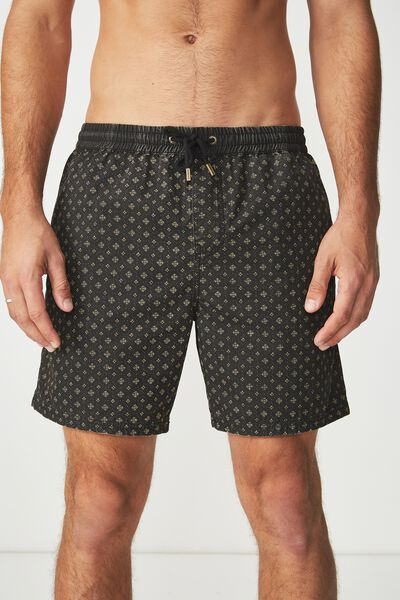 Kahuna Short, BLACK / DIAMOND DAZE