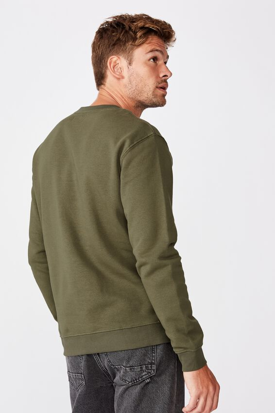 Essential Crew Fleece, WASHED KHAKI