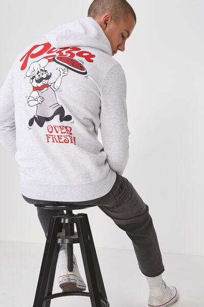 Fleece Pullover 2, WHITE MARLE/OVEN FRESH