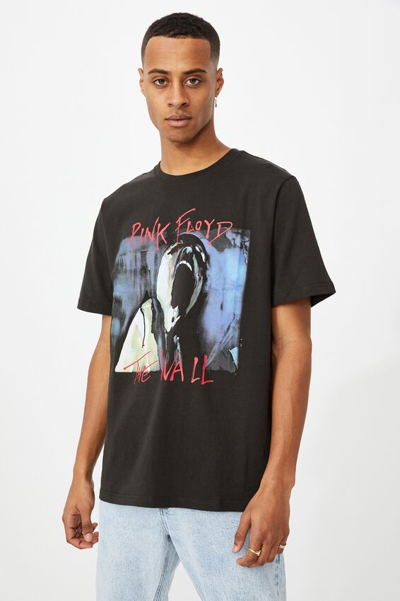 Tbar Collab Music T-Shirt, LCN PER WASHED BLACK/PINK FLOYD - THE WALL