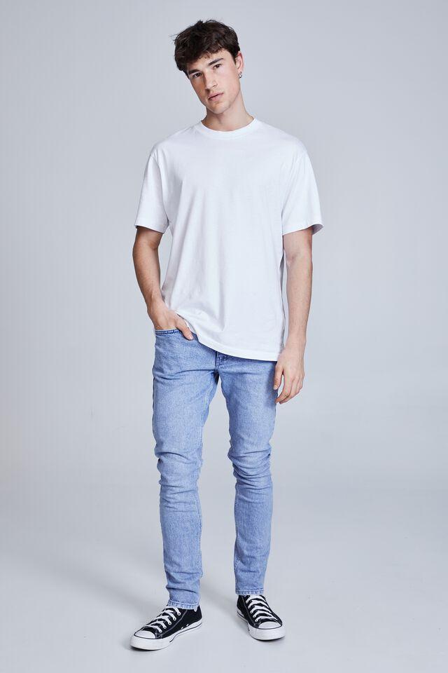 Super Skinny Jean, FADED OPTIC BLUE