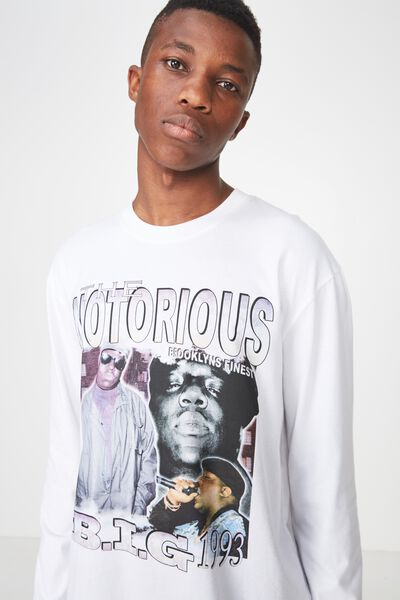 Tbar Collaboration Ls Tee, LC WHITE/THE NOTORIOUS BIG