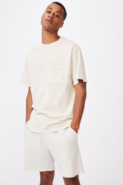 Washed Pocket T-Shirt, IVORY