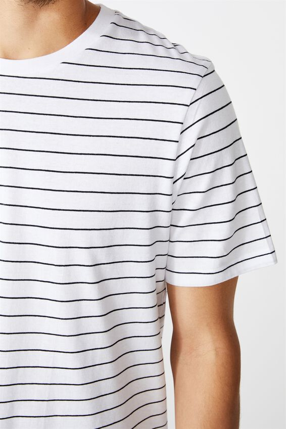 Tbar Premium T-Shirt, WHITE EASY STRIPE