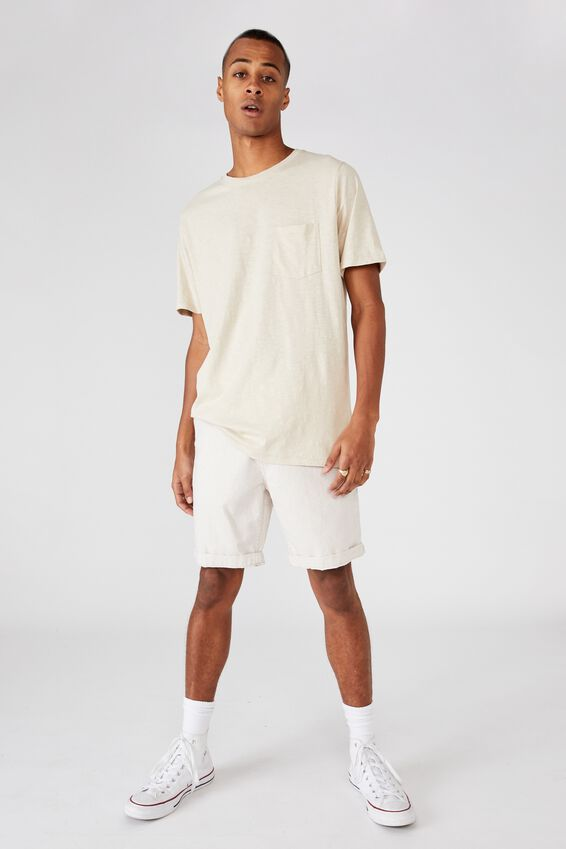 Washed Chino Short, SAND/WHITE STRIPE