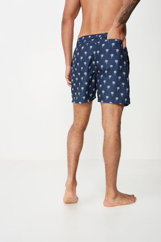 Swim Short, DUSTY NAVY/YIN YANG PALMS
