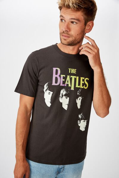 Tbar Collab Music T-Shirt, LCN APP SK8 WASHED BLACK/THE BEATLES - TIE DYE