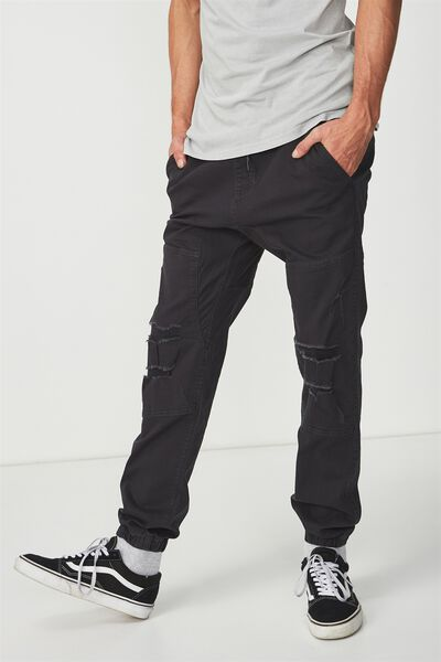 Drake Cuffed Pant, RIPPED BLACK