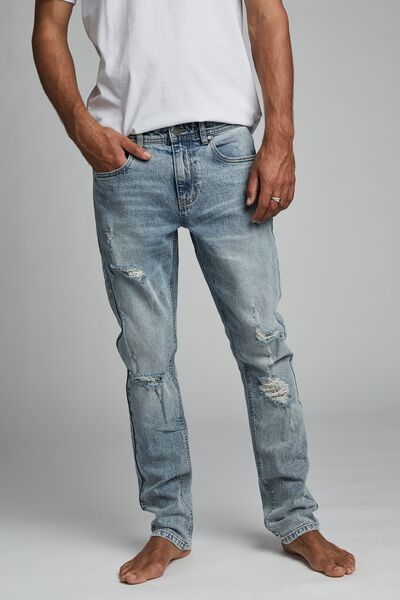Slim Fit Jean, Beckley Blue Rips