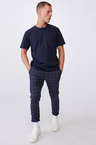 Skinny Stretch Chino, NAVY WINDOW PANE