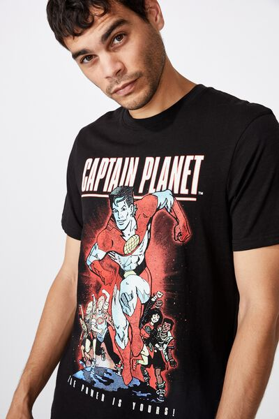 Tbar Collab Movie And Tv T-Shirt, LCN CAR BLACK/CAPTAIN PLANET - THE POWER