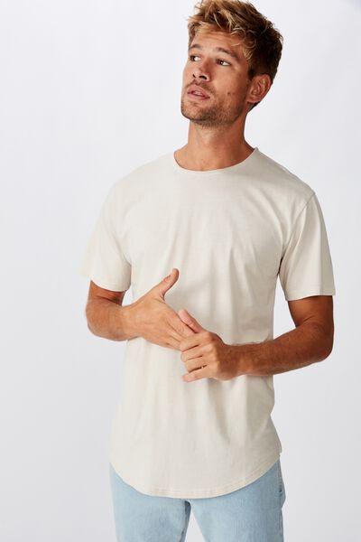 Longline Scoop Burnout T-Shirt, SMOKE