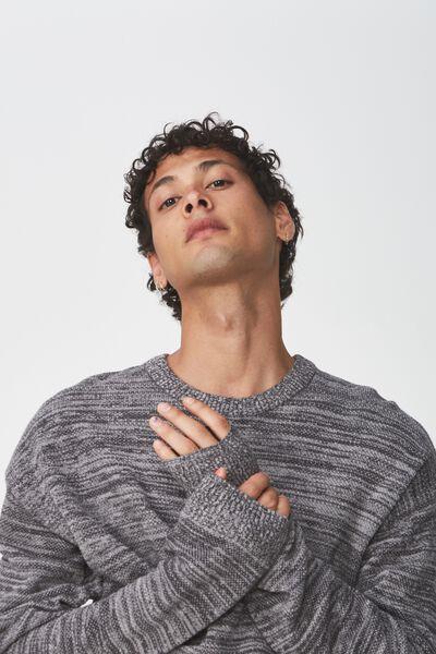 Lightweight Crew Sweater, CHARCOAL