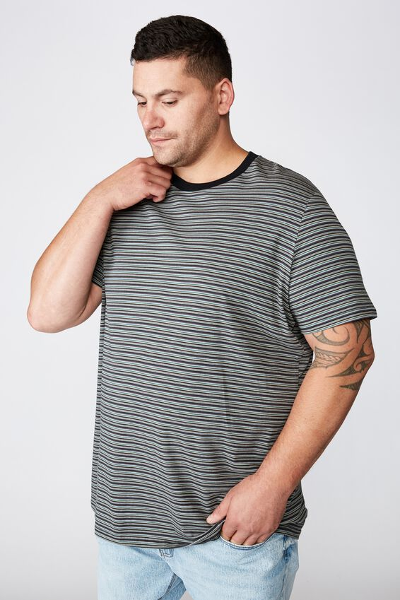 Bg Dylan Tee, WASHED BLACK/GUN POWDER GREY/FADED SLTE/DEEP SEA T