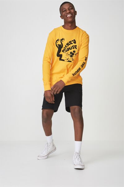 Tbar Collaboration Ls Tee, LC ZINNIA YELLOW/MICKEY MOUSE IN THE HOUSE