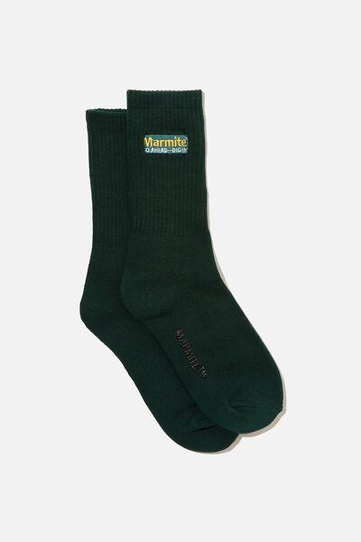 Special Edition Active Sock, LCN MARMITE/GREEN