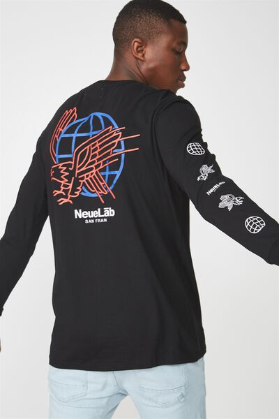 Tbar Long Sleeve, BLACK/NEUE LAB SAN FRAN