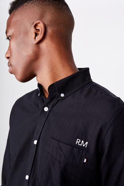 Personalised Brunswick Shirt 3, BLACK OXFORD