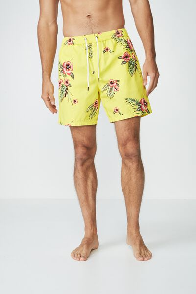 Hoff Short, YELLOW HAWAIIAN FLORAL