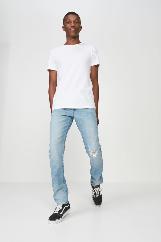 Slim Fit Jean, RIPPED DAY PEPPER