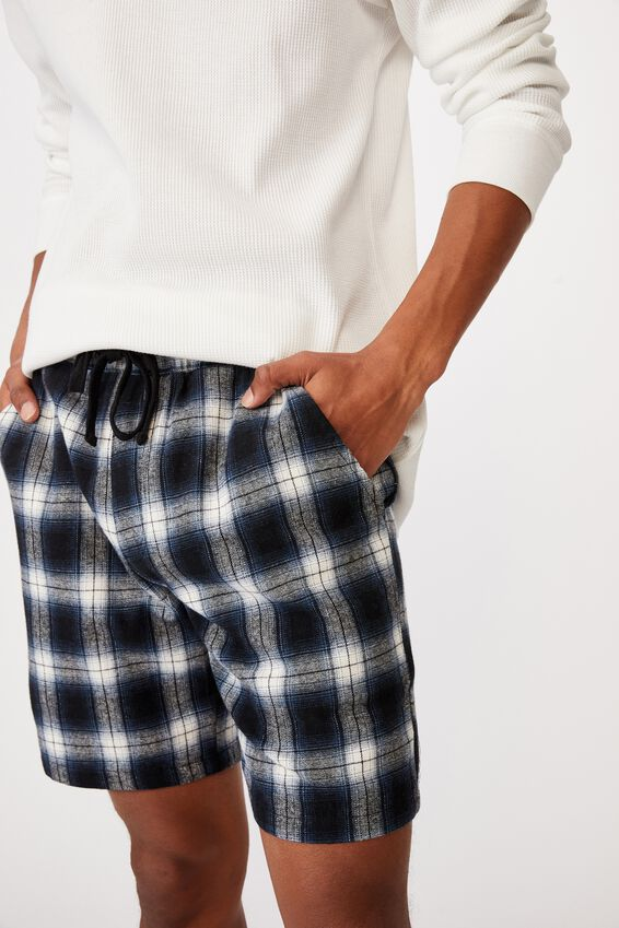 Lounge Short, NAVY BLUE CHECK