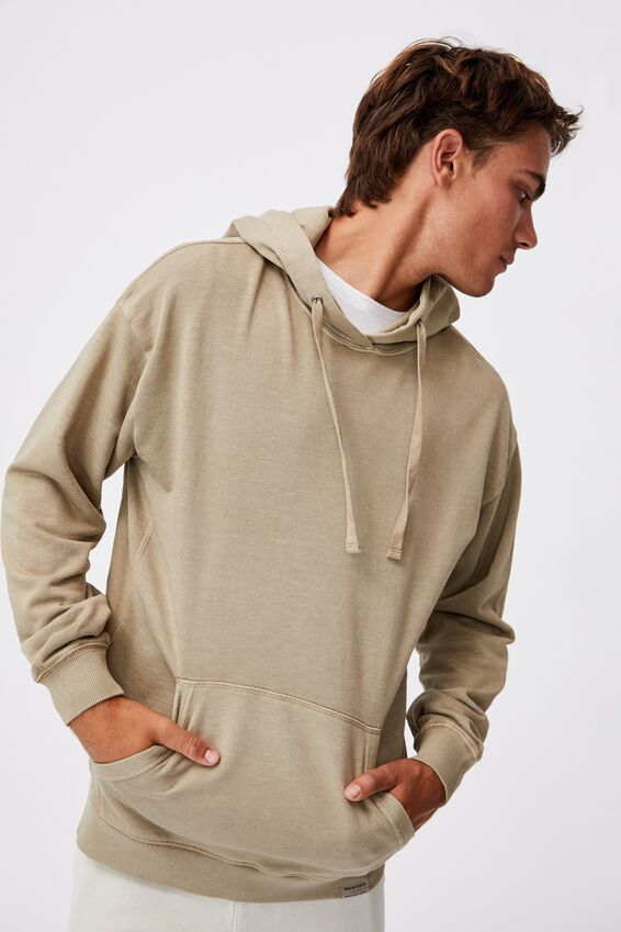 Pigment Dyed Oversized Pullover, GRAVEL STONE