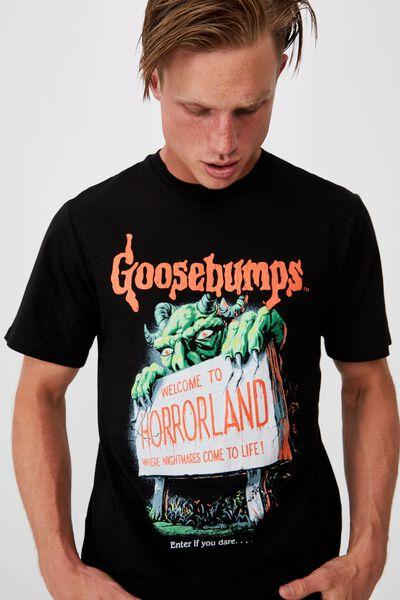 Tbar Collab Movie And Tv T-Shirt, LCN SON BLACK/GOOSEBUMPS - HORRORLAND
