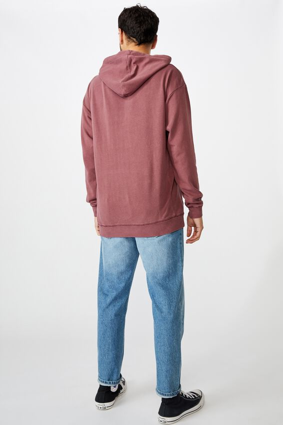 Pigment Dyed Oversized Pullover, AGED WINE