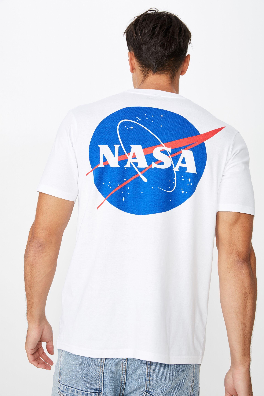 Men New Hot Black 100/% Cotton Cool NASA Logo T-shirt Crew Neck short sleeve Tee