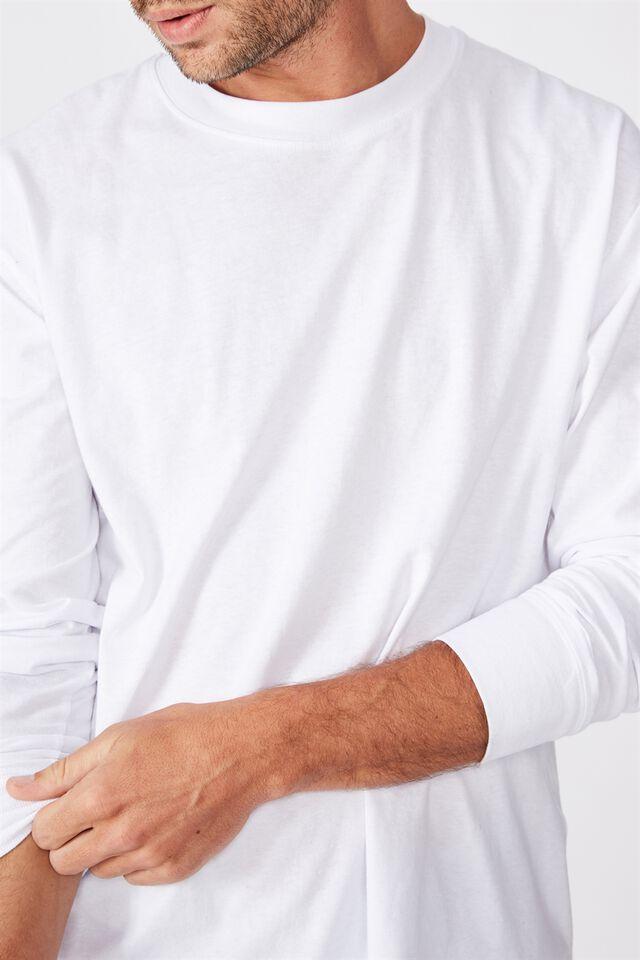 Tbar Long Sleeve T-Shirt, WHITE