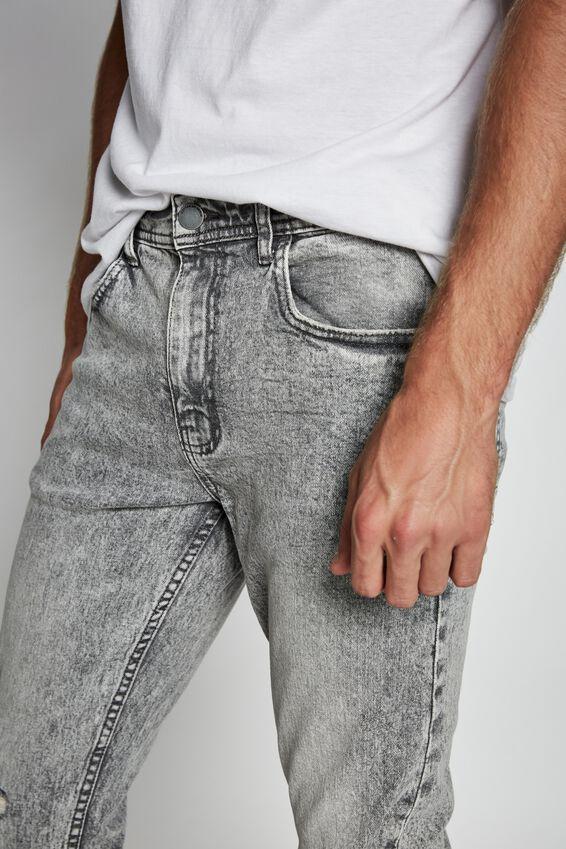 Super Skinny Jean, COOL GREY + RIPS