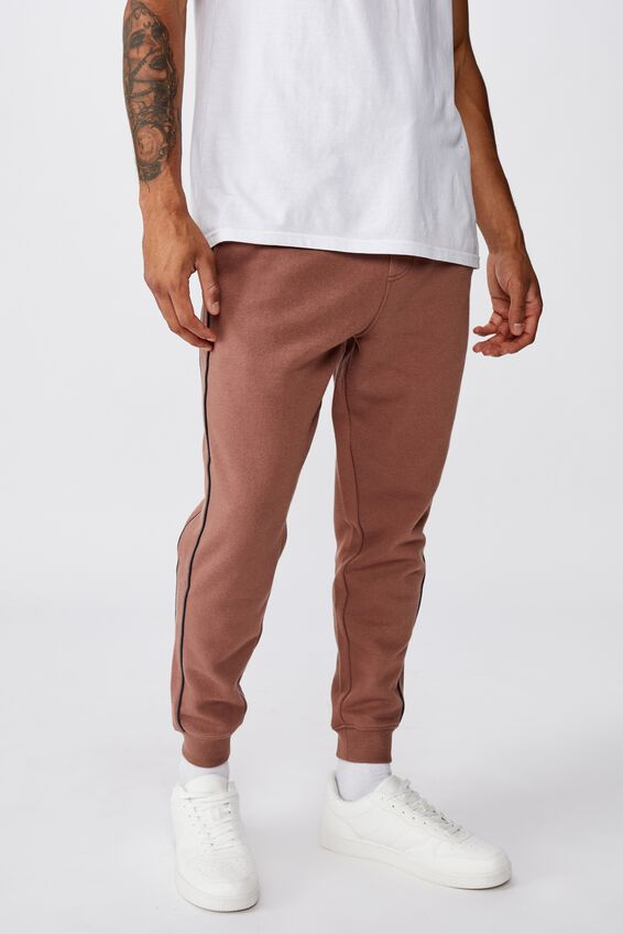 Trippy Slim Trackie, CAPPUCCINO/PIPING