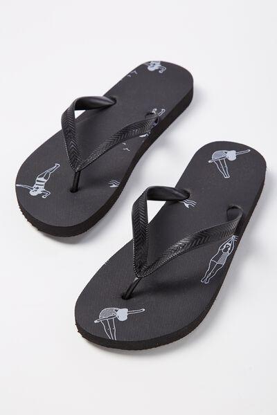 Bondi Flip Flop, DAISY DIVER/BLACK