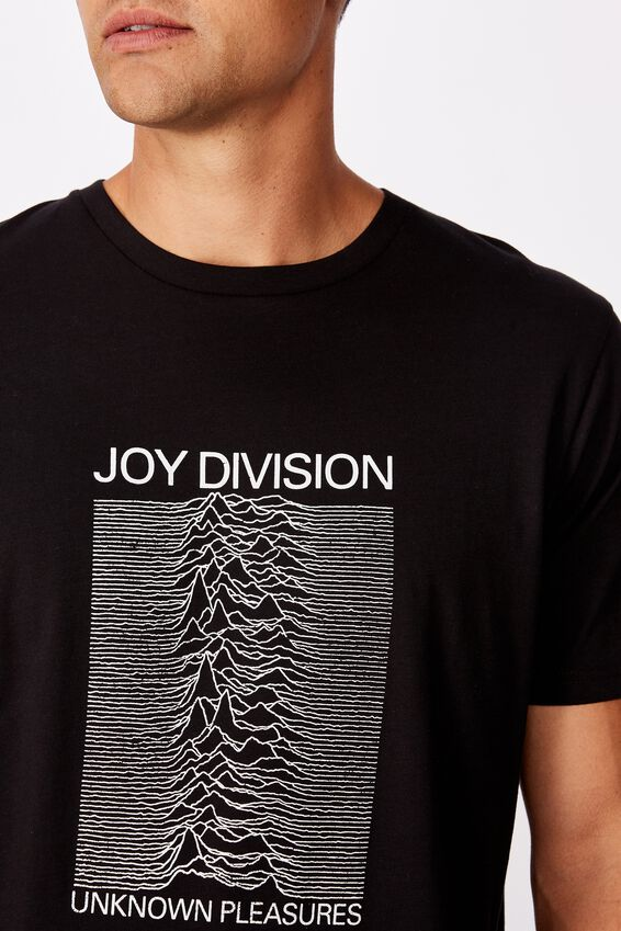 Tbar Collab Music T-Shirt, LCN WMG BLACK JOY DIVISION - UNKNOWN PLEASURE