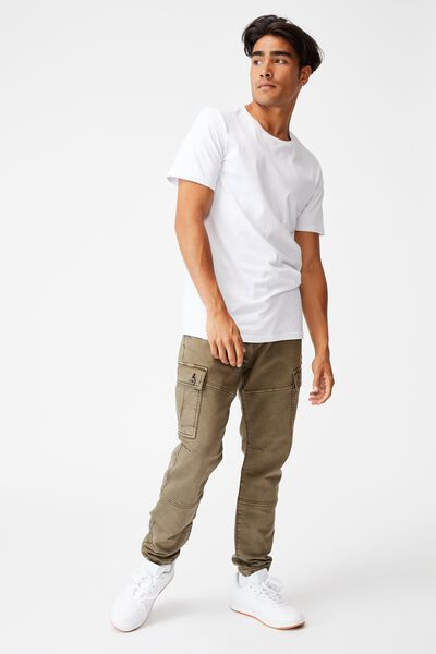 Military Cargo Pant, WASHED KHAKI