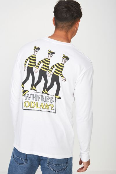 Tbar Collaboration Ls Tee, LC WHITE/WHERES ODLAW