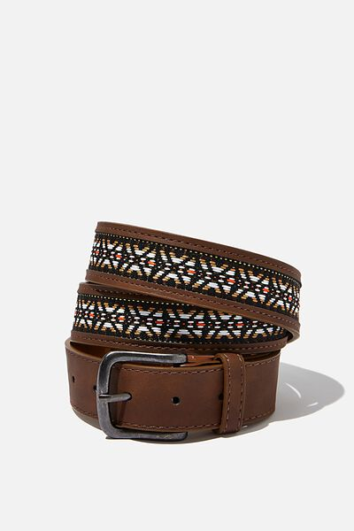 Festival Belt, BROWN/AZTEC TAPE