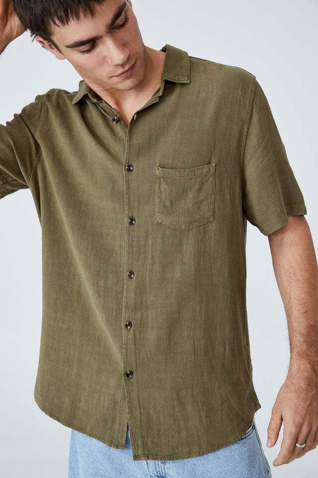 Ace Short Sleeve Shirt, JUNGLE KHAKI