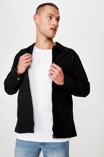 Worker Jacket, BLACK