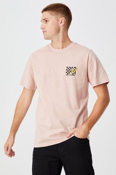 Tbar Collab Pop Culture T-Shirt, LCN MTV DIRTY PINK/MTV - CHECKERBOARD LOGO