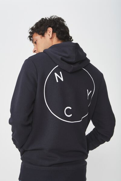 Fleece Pullover 2, INK NAVY/NYC CIRCLE